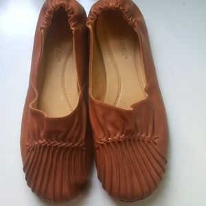 Chocolat Blu Anthropologie leather loafers 8.5